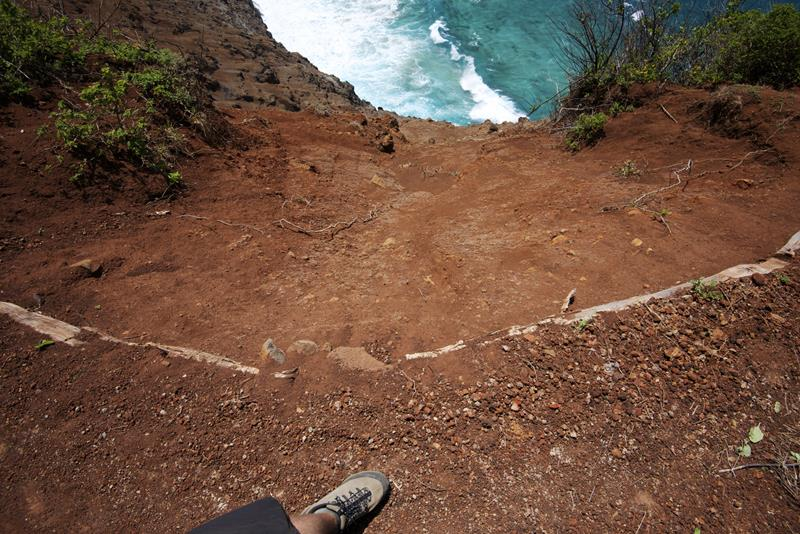 kalalau trail crawlers ledge