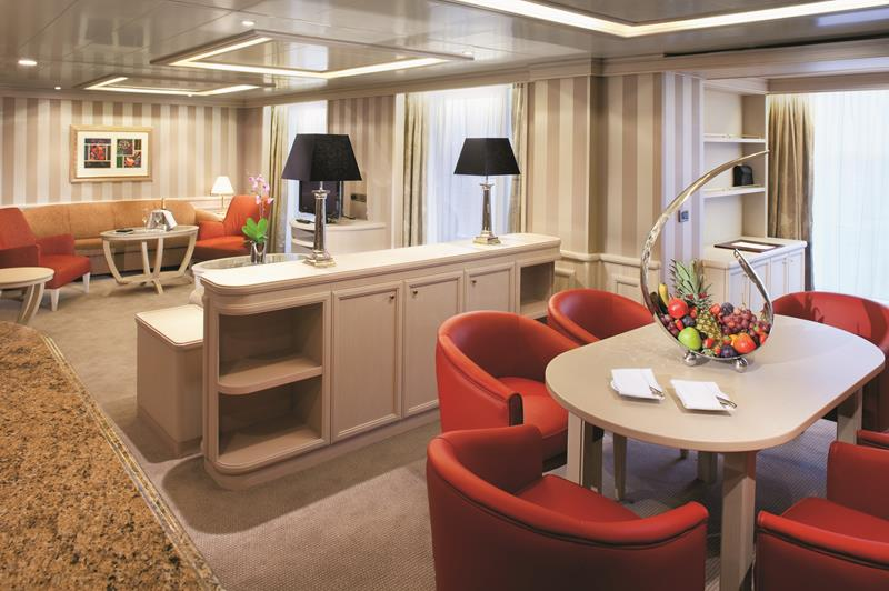 Owner's Suite - Room #845 - Deck 8 Midship Silver Spirit - Silversea Cruises