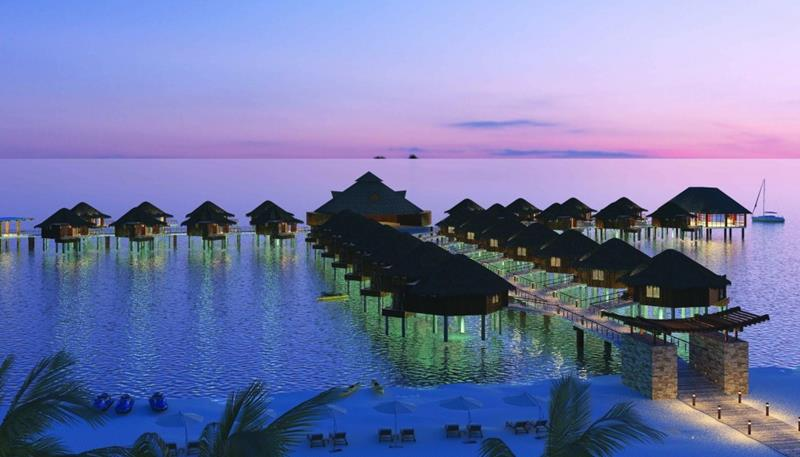 9 Pictures of New Overwater Bungalows in the Caribbean-1