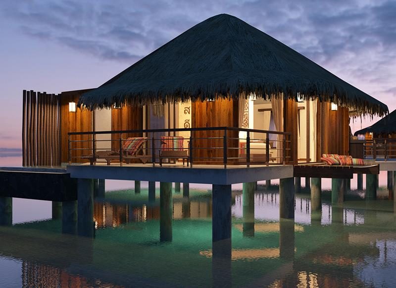 9 Pictures of New Overwater Bungalows in the Caribbean-2