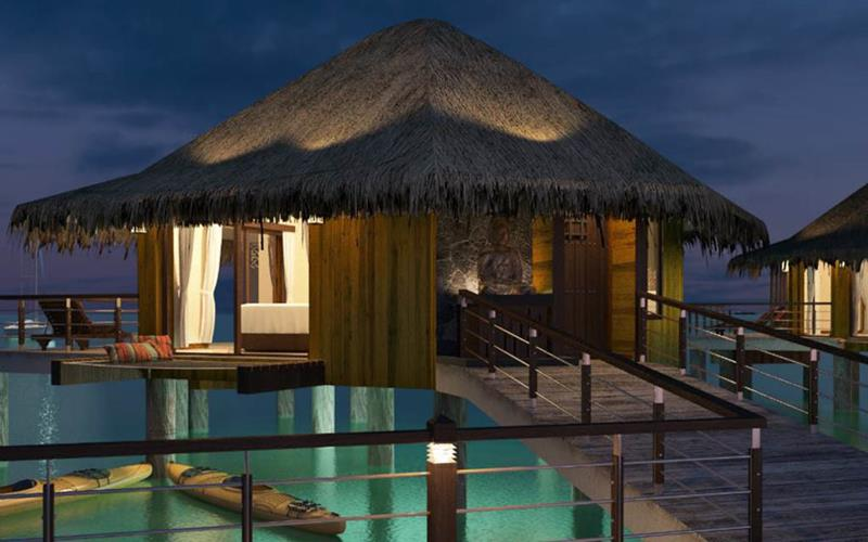9 Pictures of New Overwater Bungalows in the Caribbean-3