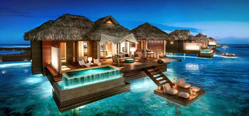 9 Pictures of New Overwater Bungalows in the Caribbean-5