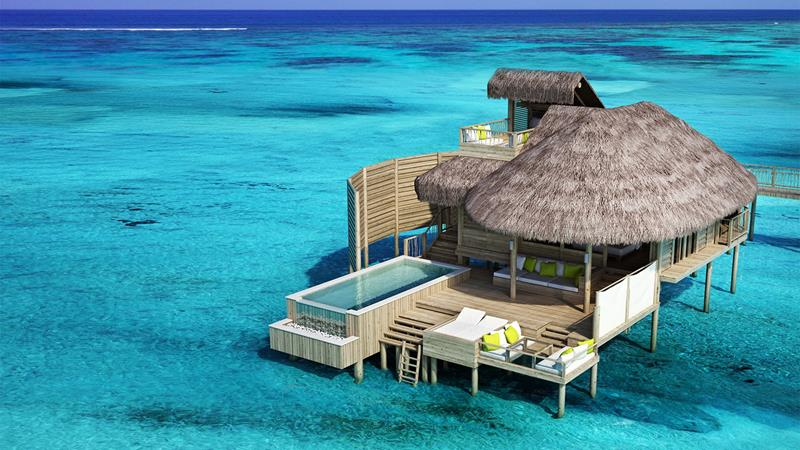 9 Pictures of New Overwater Bungalows in the Caribbean-title