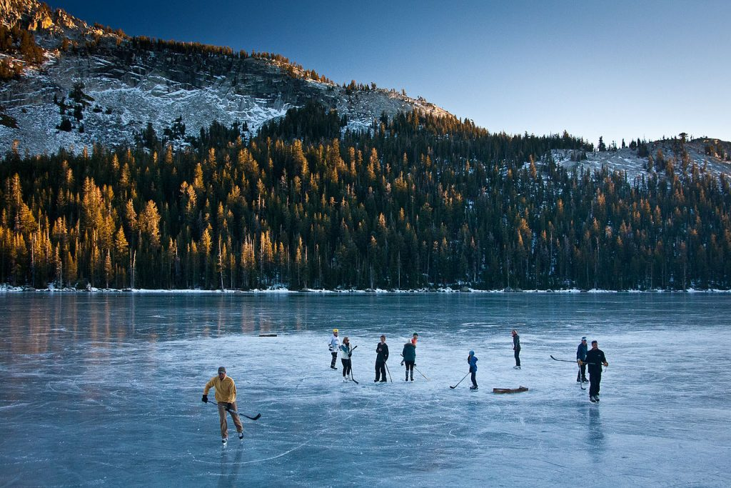 Ice Skating On A Lake